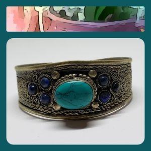 Vintage Turquoise/Silver Fashion Bracelet-Charity